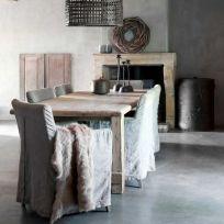 tavolo Kiki in legno massello 160x80x78 cm