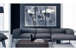Quadro su vetro acrilico Blue Map