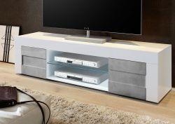 Porta TV linea Easy  in finitura Bianco e Cemento