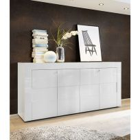 Madia linea  Easy 4 ante in Bianco lucido