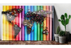 Quadro su vetro acrilico Colored World