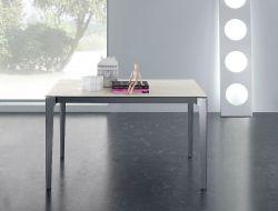 Tavolo Vertigo 130x85 struttura grigio ardesia e piano bianco