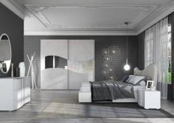 Camera Matrimoniale Mare 2 laccato bianco cemento