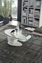 Tavolino Wave  con struttura Bianca