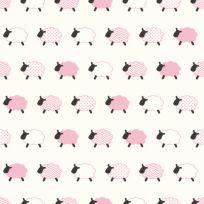 Carta da parati Baby collection Pecorelle rosa