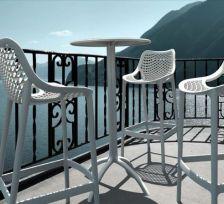Tavolo Apollo Eurosedia in polipropilene bianco