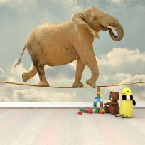 Carta da parati decorativa elefante