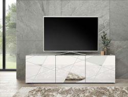 Porta Tv 3 ante linea Gamma in Bianco Lucido