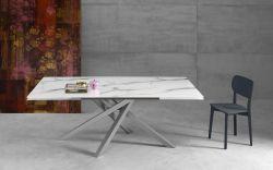 Tavolo Kubo con piano in Vetro 160 x 90