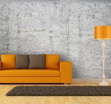 Carta da parati effetto muro cemento