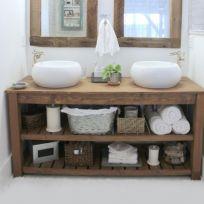 Mobile bagno in legno massello 160 x75 cm