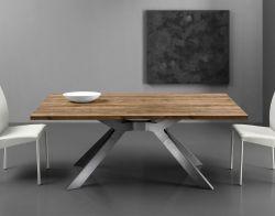Tavolo Steel 160x90 cm con piano in laminato