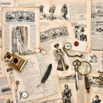 Carta da parati decorativa vintage letter