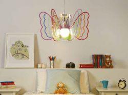 Lampada a sospensione Butterfly multicolor
