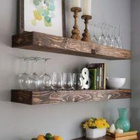 Mensola in legno massello 120 cm