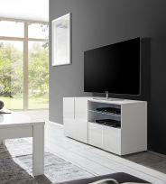 Porta Tv linea Dama a 1 anta e 1 cassetto in Bianco lucido