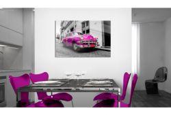 Quadro su vetro acrilico Pink Car
