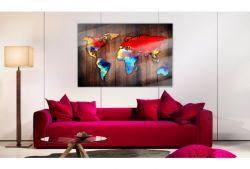 Quadro su vetro acrilico Colores de Mundo
