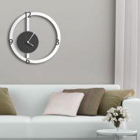 Orologio da parete HALO, bianco e antracite
