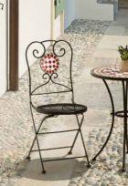 Sedia pieghevole Mosaico colore Antracite