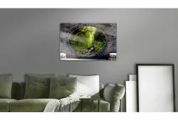 Quadro su vetro acrilico Green Magic World