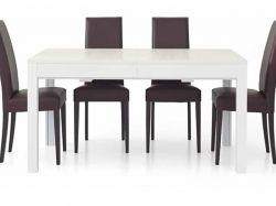 Tavolino in legno allungabile Oasi bianco