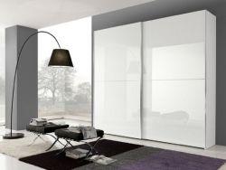 Armadio Maxi linea New Season con  telaio in Alluminio e ante Bianco Lucido laccate