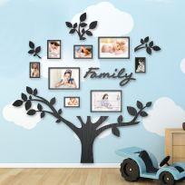 Quadro foto di Famiglia ALBERO della vita legno nero