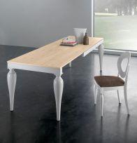 Tavolo allungabile Romeo 160x90 cm bianco e quercia