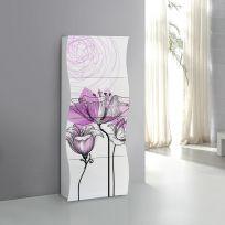 Scarpiera linea Mia 4 ante con serigrafia floreale viola